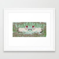 xmas Framed Art Prints featuring XMAS by AmelieHsieh