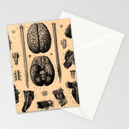 Iconographic Encyclopedia of Science, Literature and Art (1851) - The Human Nervous System 1 Stationery Cards