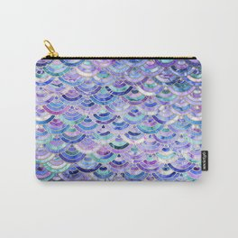 Marble Mosaic in Amethyst and Lapis Lazuli Carry-All Pouch