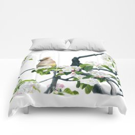 Amongst the Blossoms by Teresa Thompson Comforters