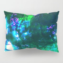 Wildflowers Goth Abstract Pillow Sham
