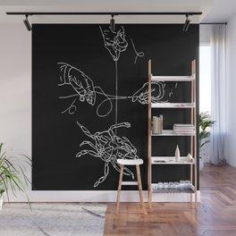 Crabby Fish Hands Wall Mural