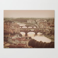 Old Bridge Ponte Vecchio Canvas Print
