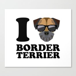 I Love Border Terrier modern v1 Canvas Print