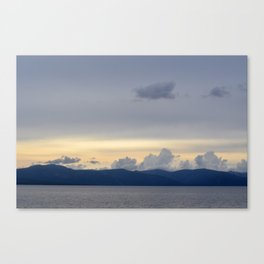 Lake Tahoe At Sunset Canvas Print