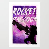 rocket raccoon Art Prints featuring Rocket Raccoon by Shelby Breese