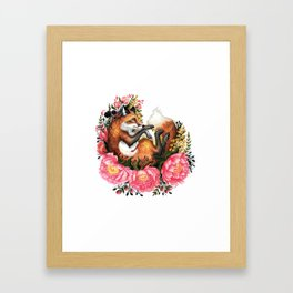 Flora and Fauna Fox Framed Art Print