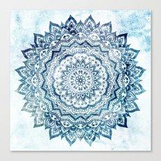 BLUE JEWEL MANDALA Canvas Print