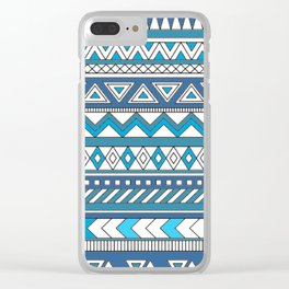 Pattern's of Calm line Clear iPhone Case