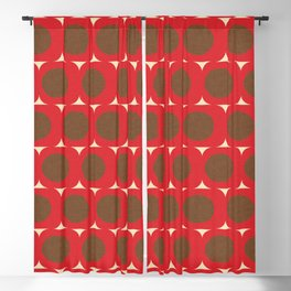 Dots and Triangles Red  #midcenturymodern Blackout Curtain