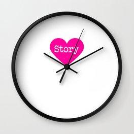 Love Story | Pink Heart Wall Clock