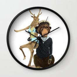 Happy Sailor Wall Clock