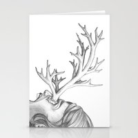 fawn Stationery Cards featuring Fawn by Tooth & Arrow Co