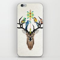 yetiland iPhone & iPod Skins featuring deer birds by Manoou