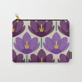 Crocus Flower Carry-All Pouch