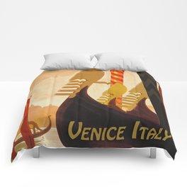 Venice Italy Vintage Travel Comforters