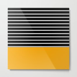 black and yellow stripes Metal Print