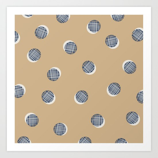 Mixed Dots - in Cocoa Art Print