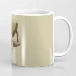 Man with Big Ball Illustration light brown Coffee Mug