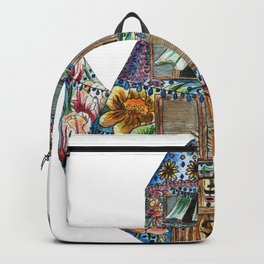 Persian Teapot House for Persian New Year Backpack