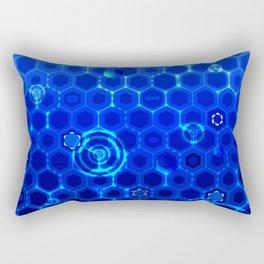 Blue Hexagonal Vector Design Rectangular Pillow