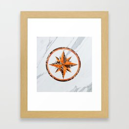Wind rose ~ Inlaid marble Framed Art Print