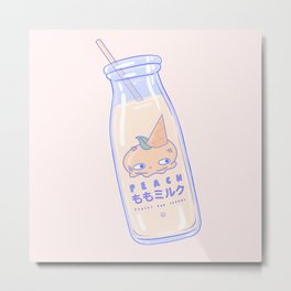 Peachy and Creamy Metal Print