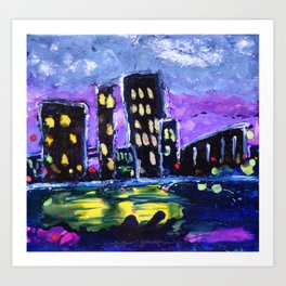 Cityscape Blue Art Print