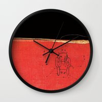 radiohead Wall Clocks featuring Radiohead - Amnesiac by NICEALB