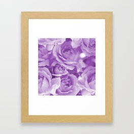 Violet Rose Bouquet For You - Valentine's Day #decor #society6 #homedecor Framed Art Print