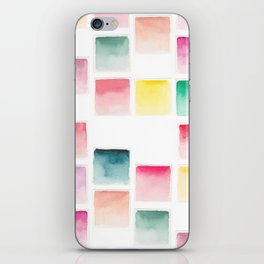 Summer Paint Chips Flat Lay Photograph iPhone Skin