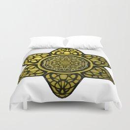 Faux Golden Mandala Star Duvet Cover