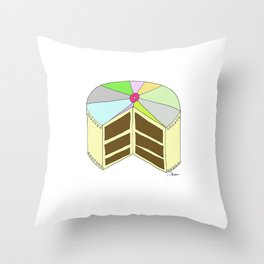 P I N W H E E L  CAKE Throw Pillow