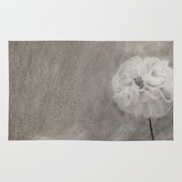 Charcoal Flower Rug