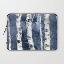 Birch forest blue Laptop Sleeve