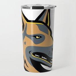 German Shepherd Dog Mascot Travel Mug