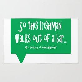 So This Irishman Walks Out of a Bar... Rug
