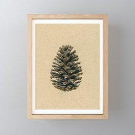 Pine Cone - Inktober 2019 #30 Framed Mini Art Print