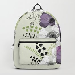Anemones bouquet cold Backpack