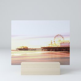 Santa Monica Pier Sunrise Mini Art Print
