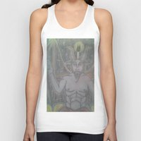 baphomet Tank Tops featuring BAPHOMET by Kathead Tarot/David Rivera