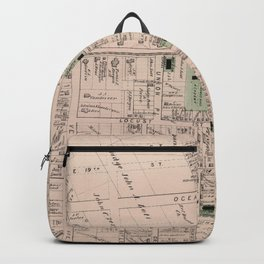 Vintage Map of Flatbush Brooklyn NY (1873) Backpack