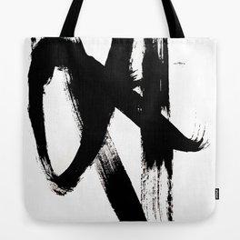 Brushstroke 2 - simple black and white Tote Bag