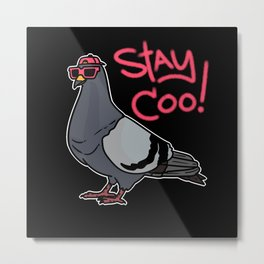 Cool Dove Stays Cool Sunglasses Metal Print
