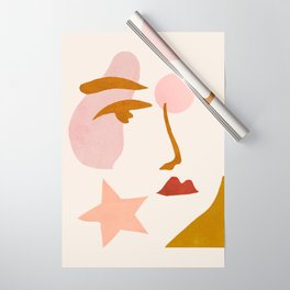 Abstraction_Minimalist_Face Wrapping Paper