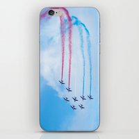 aviation iPhone & iPod Skins featuring PAF - Patrouille de France - Hyeres637-2010 aircraft aviation  637 by metamorphosa
