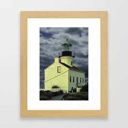 Cabrillo National Monument Lighthouse by San Diego in California Framed Art Print