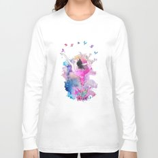 Ballerina with birds Long Sleeve T-shirt