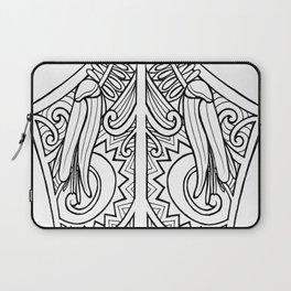 Huia Maori Art Kowhai Flower Laptop Sleeve