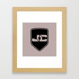 JC Music Shield (IamJackCash) Framed Art Print